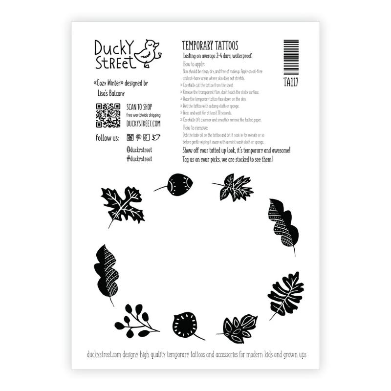 Ducky Street TATTOO IN WINTERS THEMA |  Huidvriendelijke Kinder tatoeages