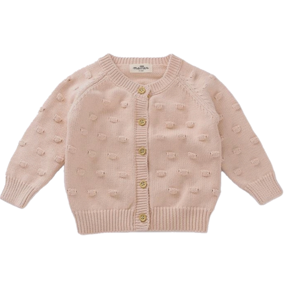 Ma Mer KNITTED CARDIGAN DUSTY PINK