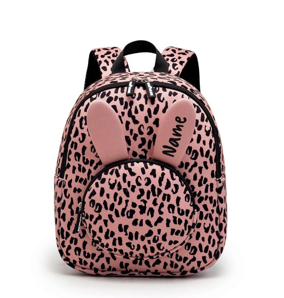 VanPauline BACKPACK BUNNY PINK LEOPARD + NAME