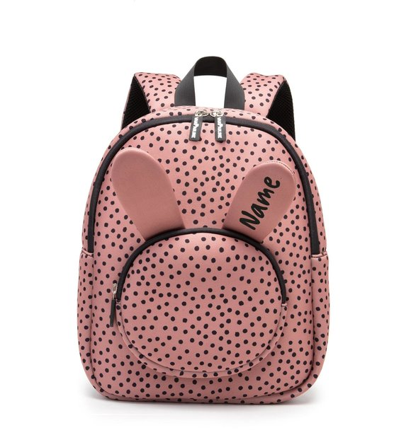 VanPauline BACKPACK BUNNY WARMPINK DOTS + NAME