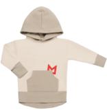Minikid BEIGE MINIKID HOODIE | SWEATER MET CAPUCHON | STOERE KINDERKLEDING