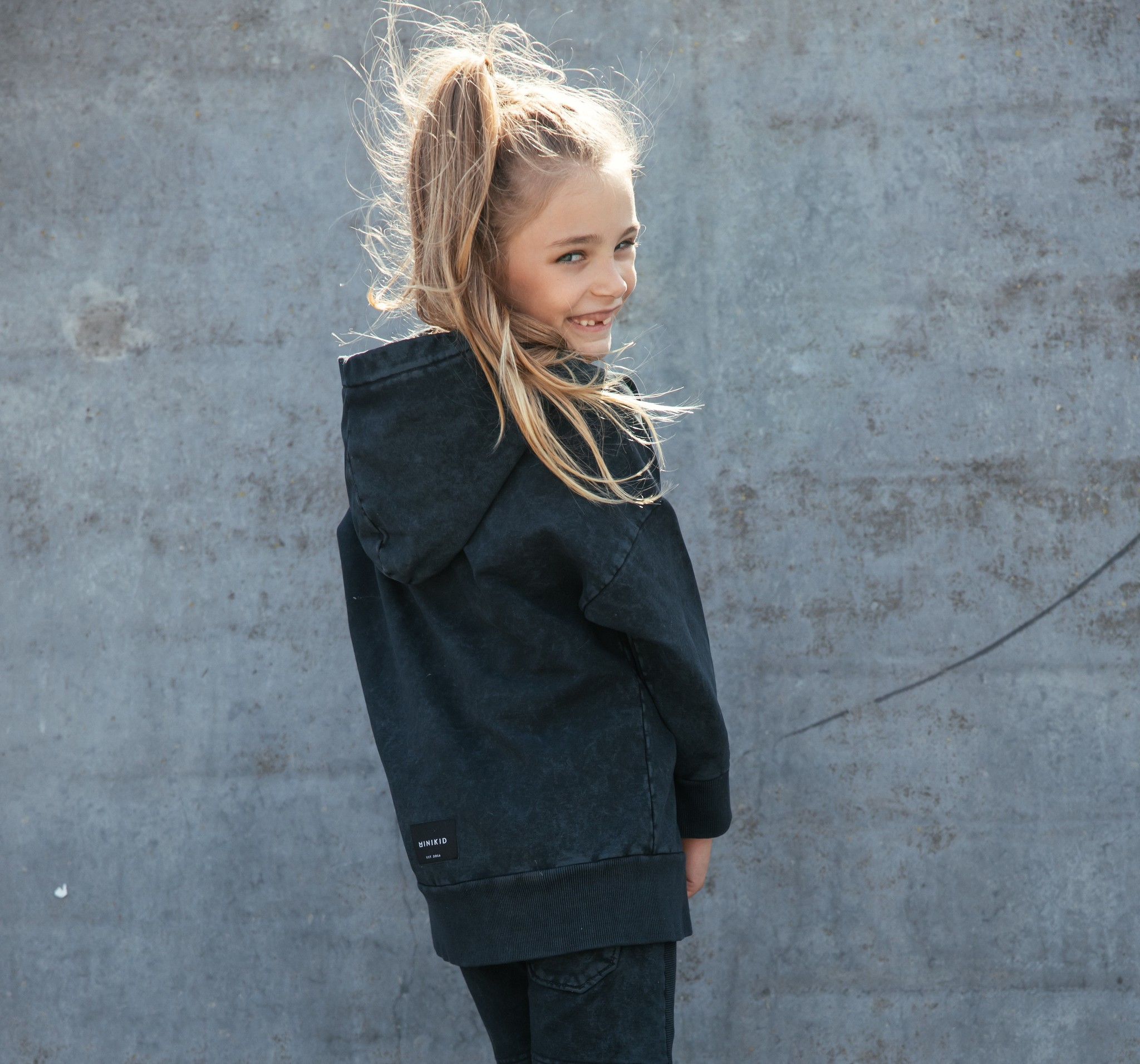 Minikid ACID WASH HOODIE | HOODED SWEATER | TOUGH KIDS CLOTHING