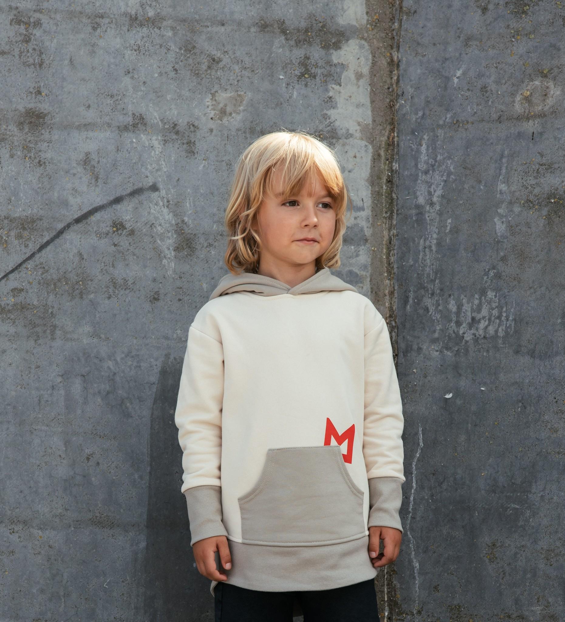 Minikid BEIGE MINIKID HOODIE | HOODED SWEATER | STREETWEAR FOR KIDS