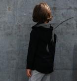 Minikid ZWARTE HOODIE VOOR KINDEREN | STOER VEST MET CAPUCHON | MINIKID