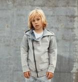 Minikid CHILDREN'S GRAY HOODIE | BAD CARDIGAN WITH HOOD | MINIKID