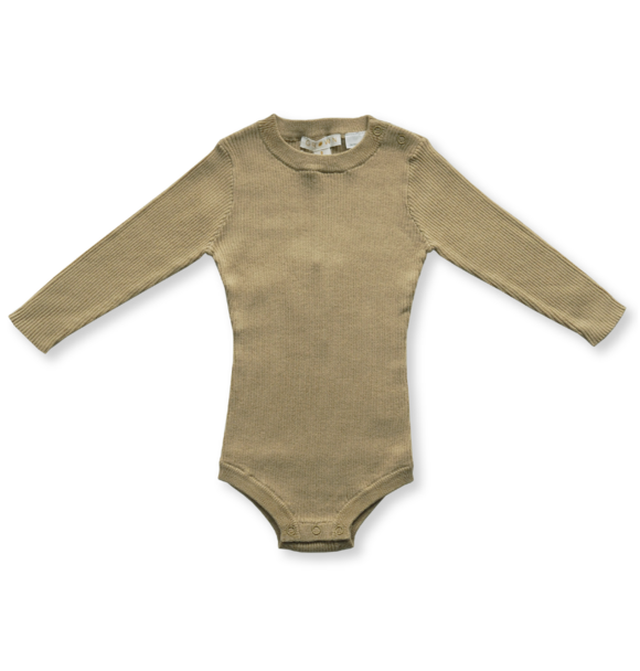 Grown KNITTED BODYSUIT OLIVE