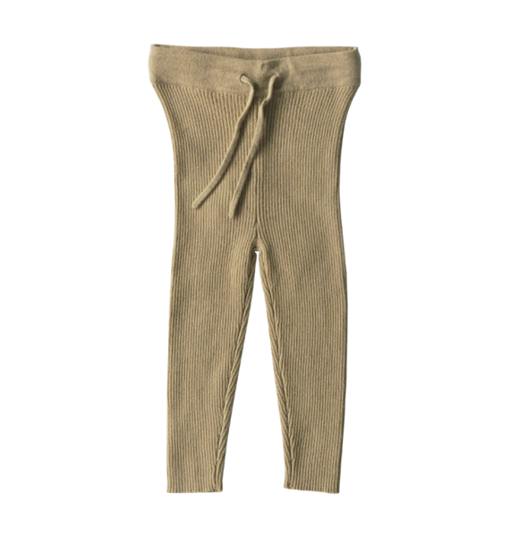 Grown KNITTED LEGGING OLIVE