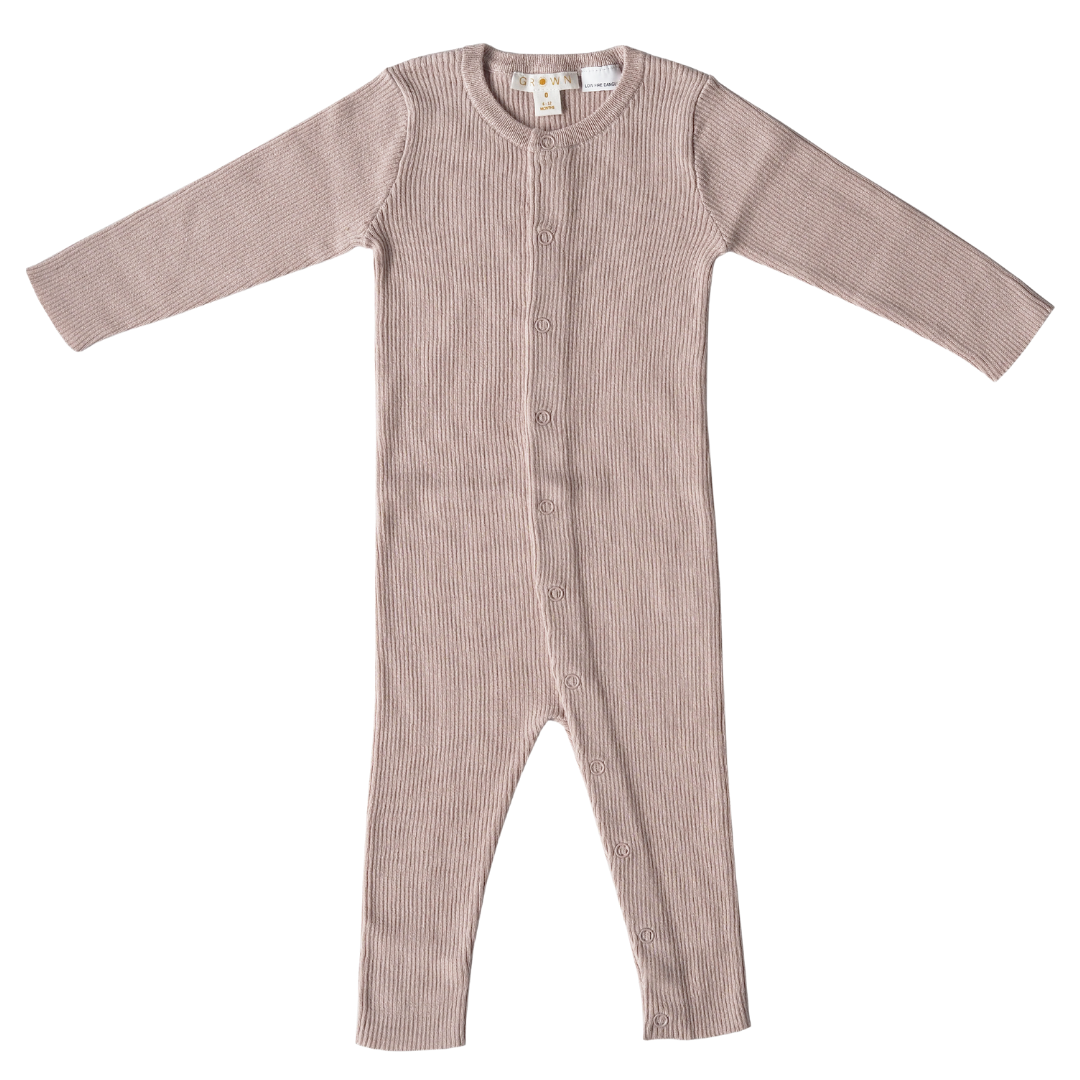 Grown FINE KNITTED SUIT | BEAUTIFUL PLAYSUIT IN RIB COTTON