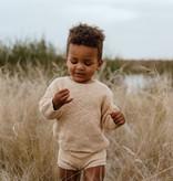 Grown LICHT BRUINE GEBREIDE BLOOMER | GEBREID KORT BROEKJE | BABYKLEDING