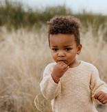 Grown LICHTBRUINE GEBREIDE SWEATER | GEBREIDE TRUI | BABYKLEDING