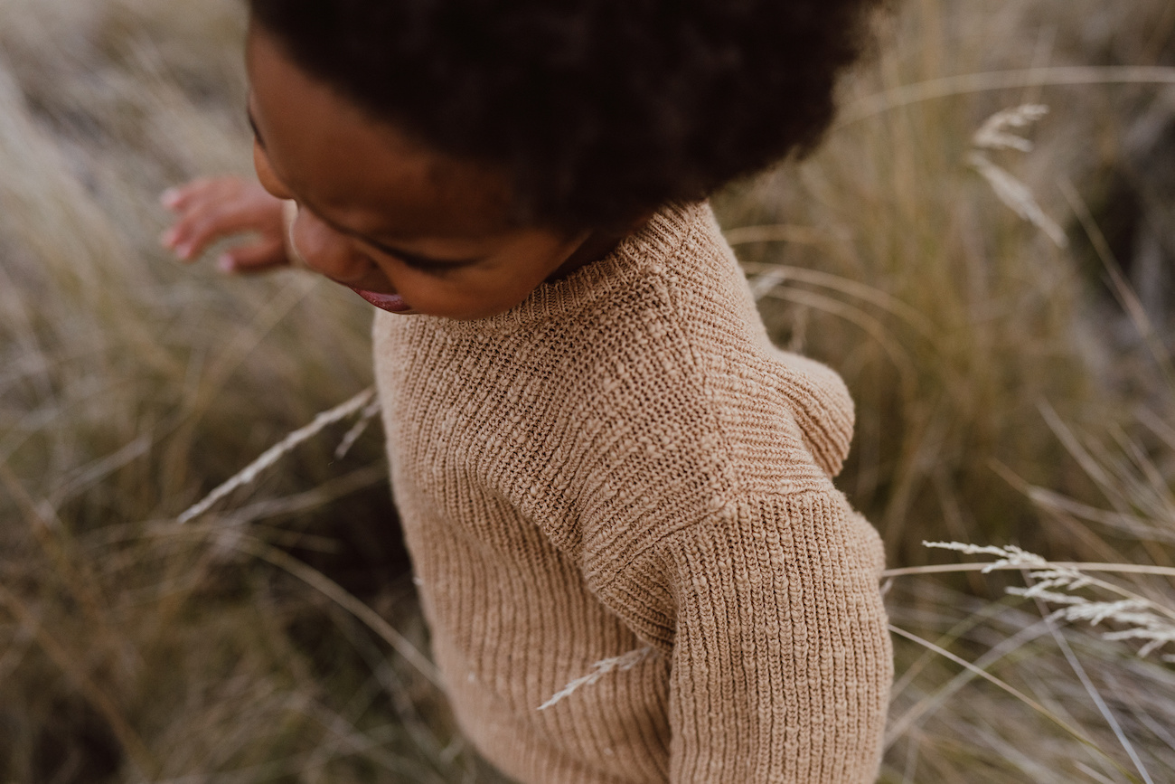 Grown BROWN KNITTED SWEATER | BEAUTIFUL KNITTED PULL OVER | CHILDREN'S CLOTHES