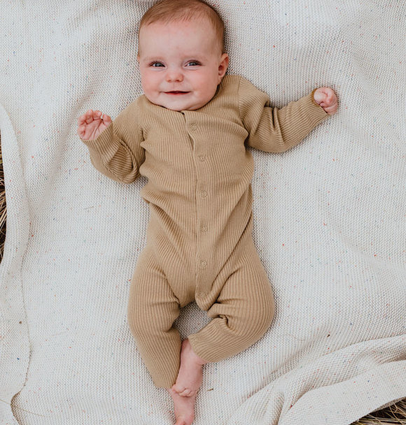 Grown KNITTED PLAYSUIT OLIVE