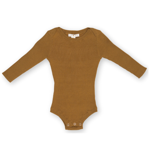 Grown KNITTED BODYSUIT MARIGOLD