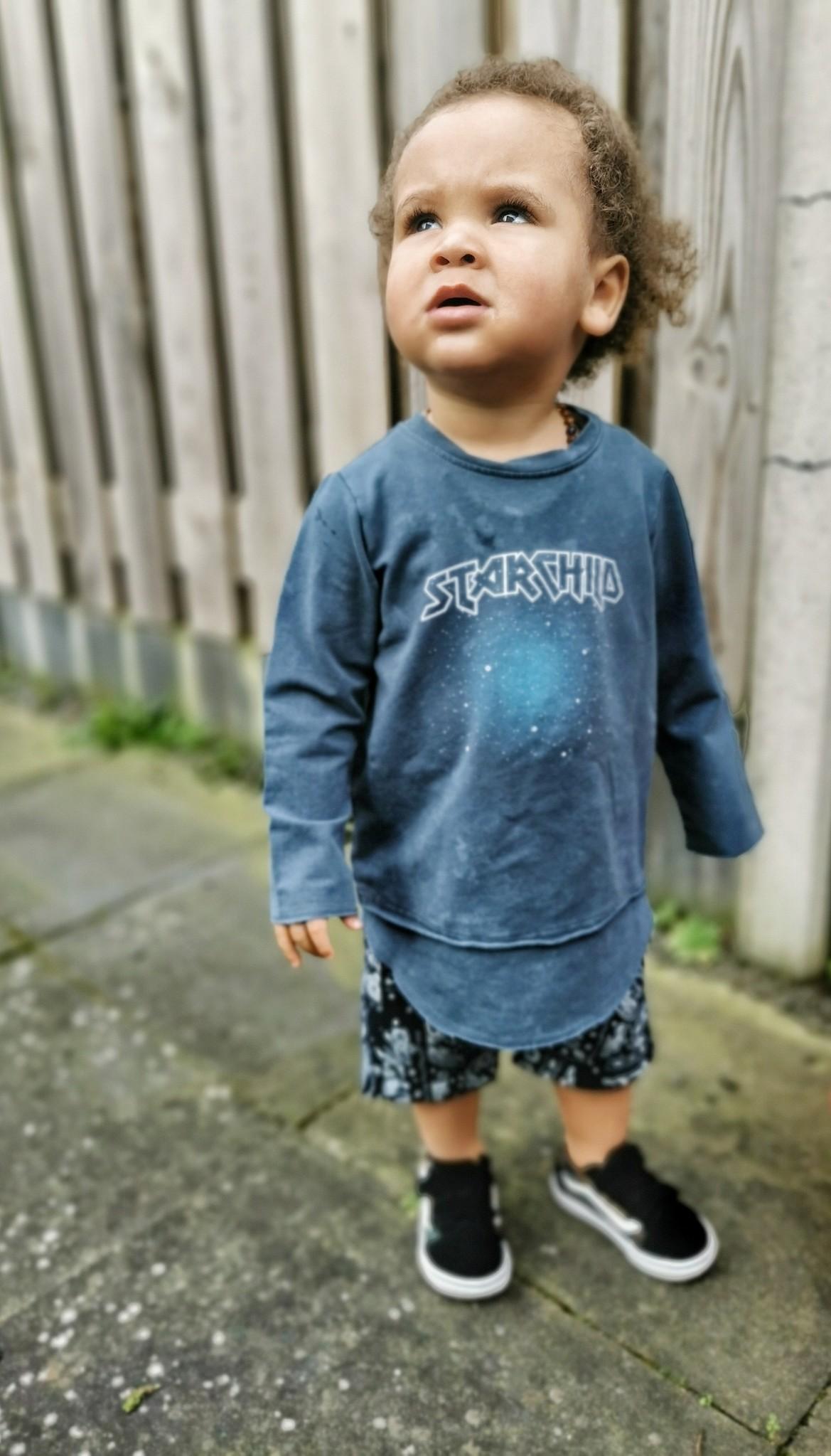 Minikid EXTRA LONG LONG SLEEVE | BLUE LONG SLEEVED TEE | MINIKID KIDSWEAR