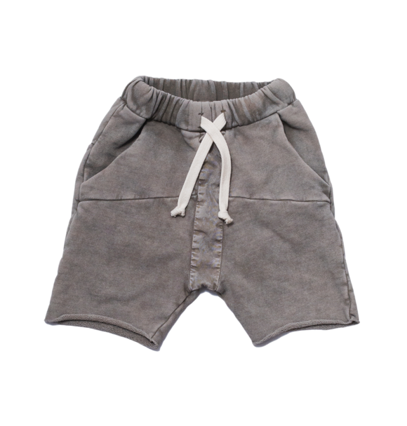 Booso GRAY STRIPED ACID SHORTS