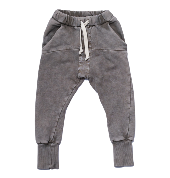 Booso GRAY STRIPED ACID PANTS