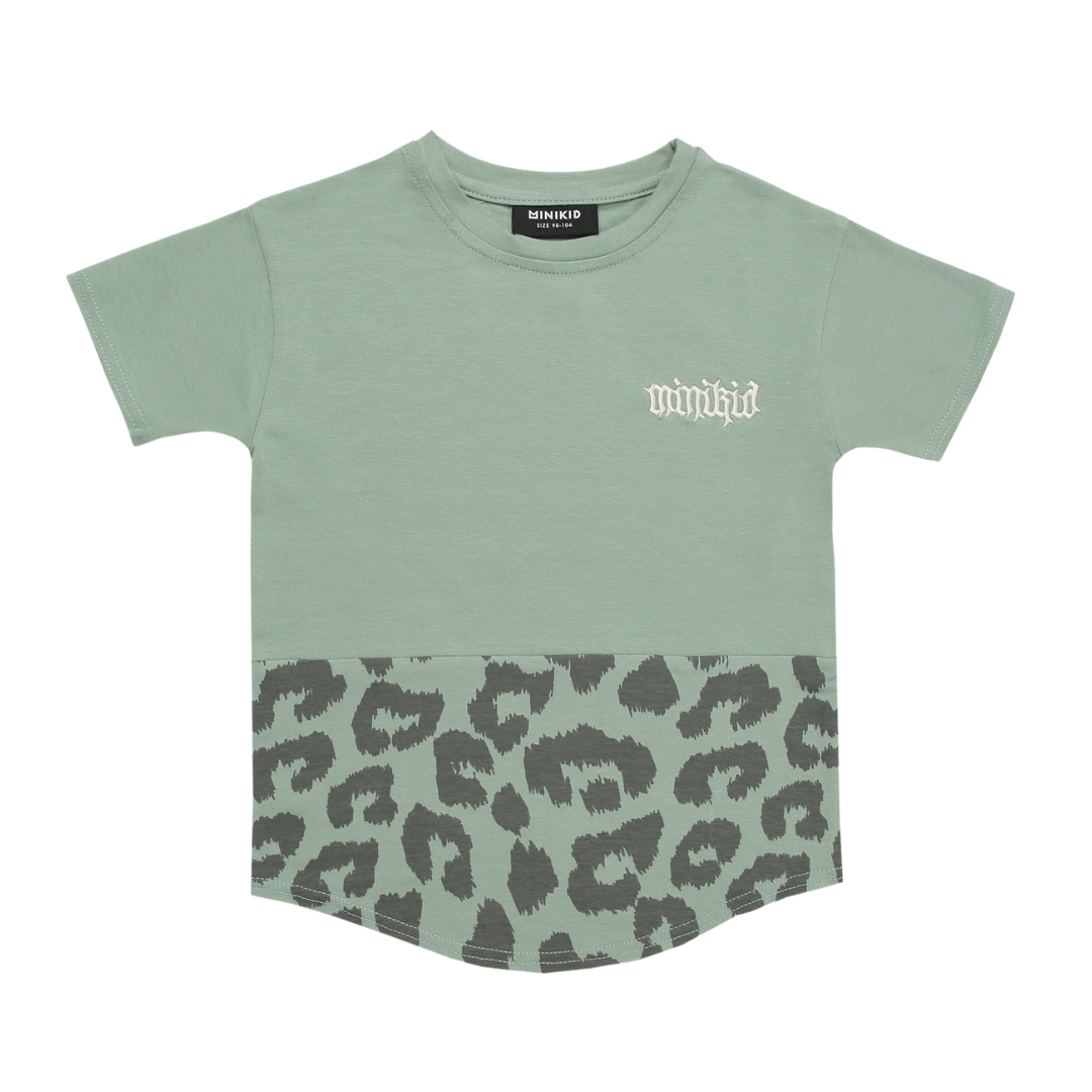 Minikid LEOPARD PRINT SHIRT | LONGER T-SHIRT | MINIKID CHILDREN'S CLOTHES