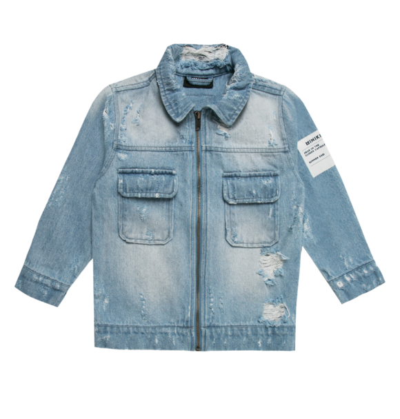 Minikid JEANS JACKET HEAD IN THE CLOUDS