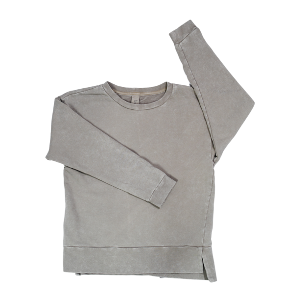 Booso GREY SIMPLE ACID SWEATSHIRT