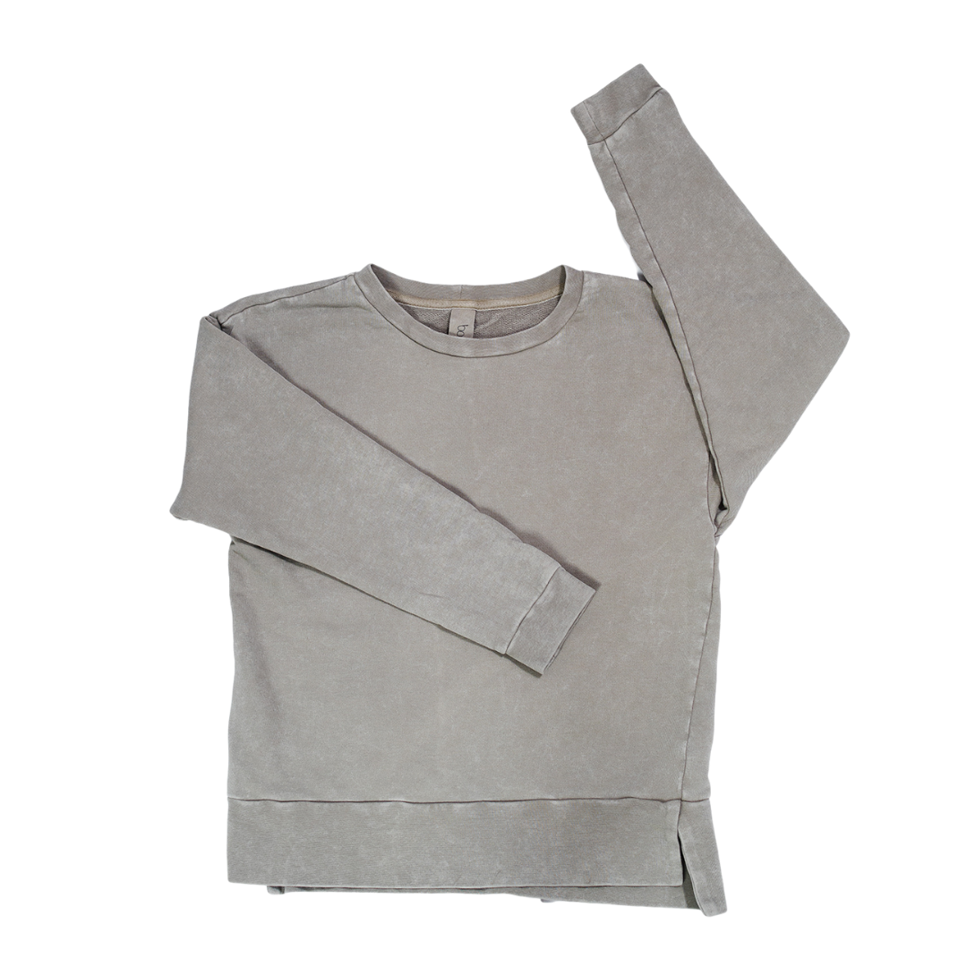 Booso GRAY SIMPLE ACID SWEATSHIRT