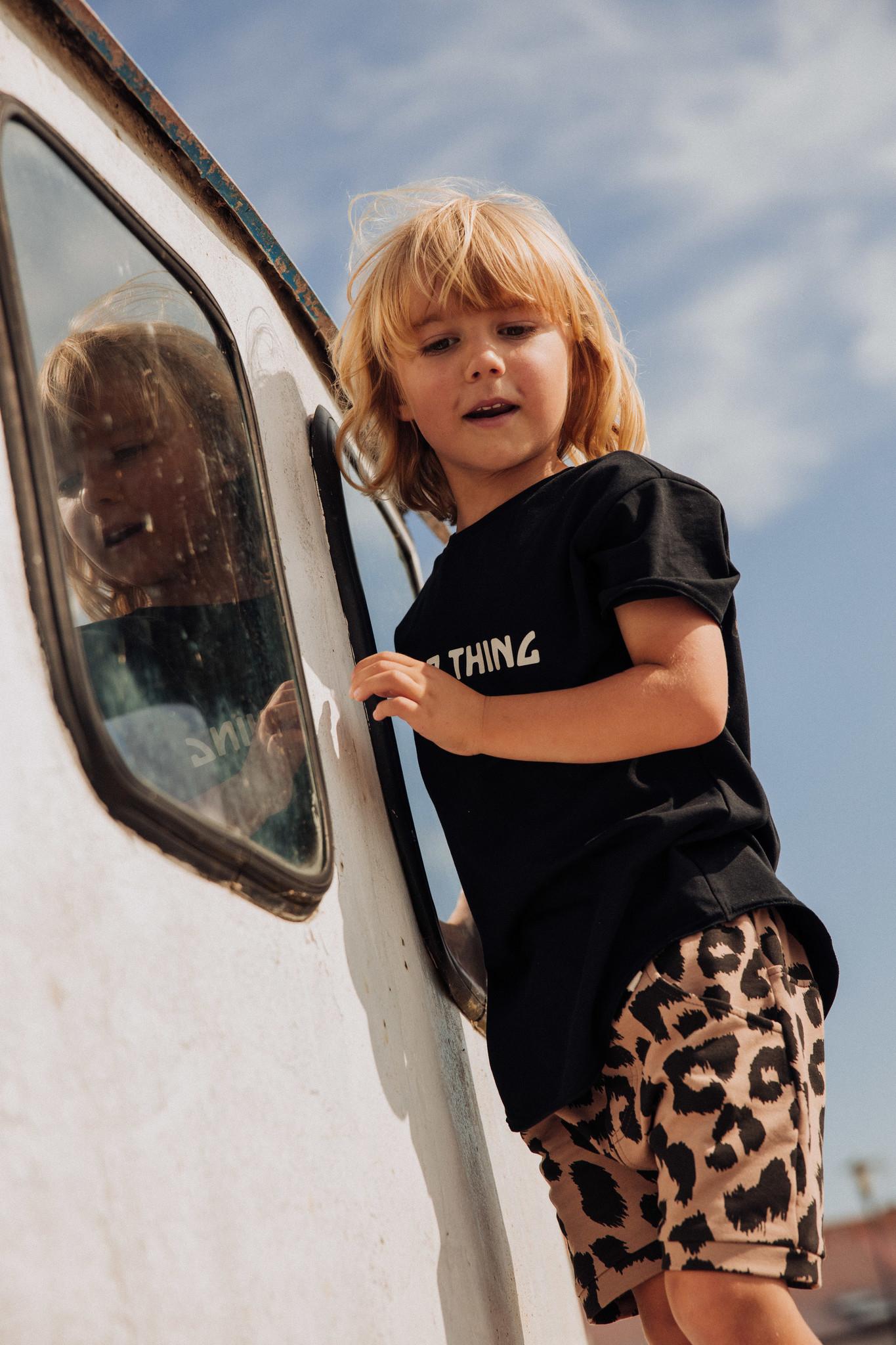 Minikid SHORT PANTS WITH LEOPARD PRINT | TOUGH SHORTS | CHILDREN'S CLOTHES