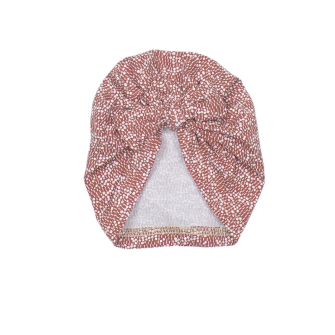 No Labels Kidswear BOW HAT WITH TERRA PRINT | BABY HAT WITH BOW
