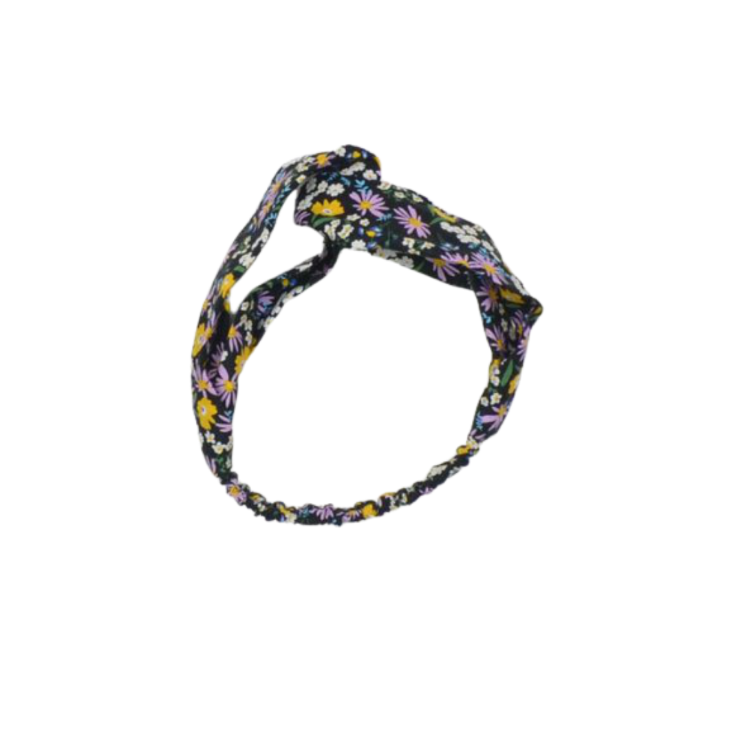 No Labels Kidswear TURBAND WITH FLORAL PRINT | HAIRBAND FOR GIRLS
