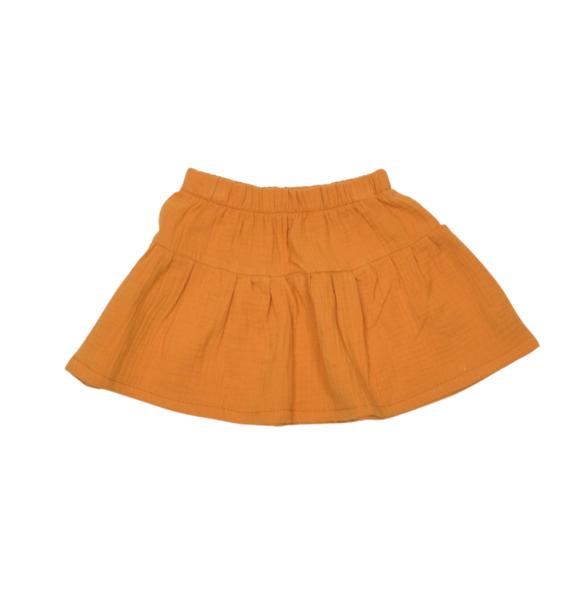 No Labels Kidswear RUFFLE SKIRT ORANGE