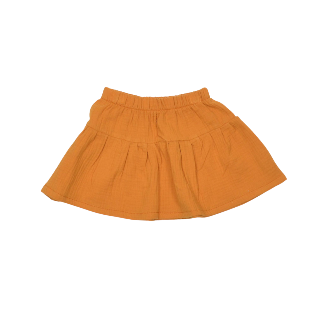 No Labels Kidswear ORANGE SKIRT | PLEATED SKIRT FOR GIRLS | GIRL CLOTHES