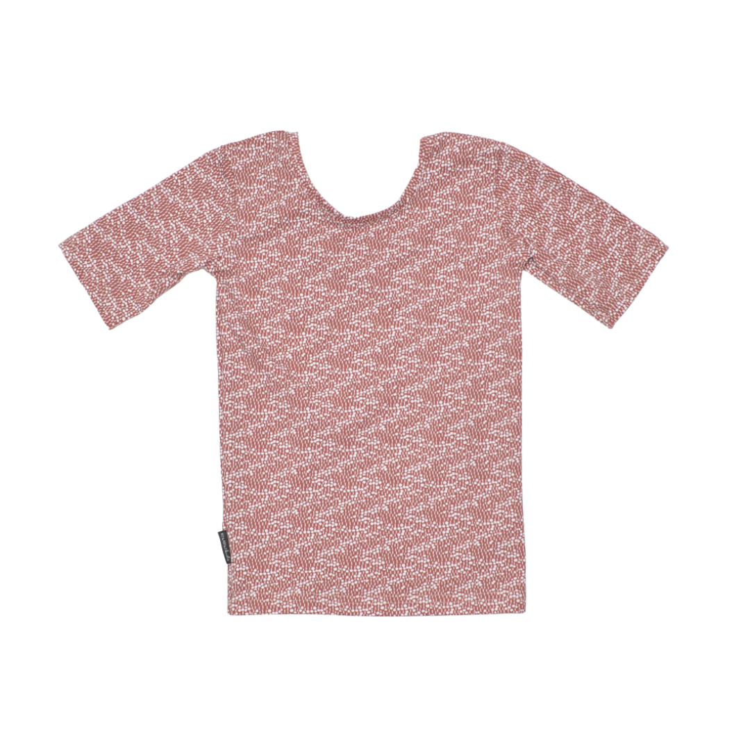 No Labels Kidswear SHIRT WITH LOW BACK | SHIRT WITH FLORAL PRINT | GIRL CLOTHES