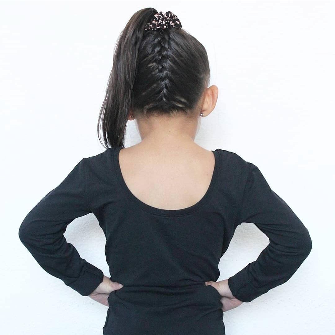 No Labels Kidswear SHIRT MET LAGE RUG | STOER PAARS SHIRT  | MEISJESKLEDING