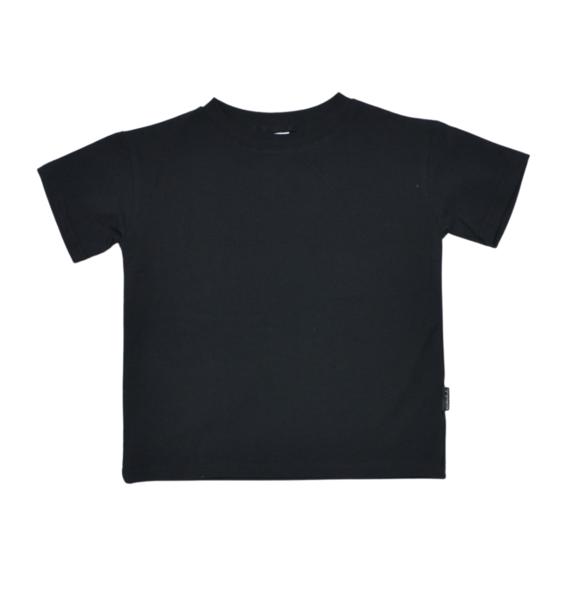 No Labels Kidswear OVERSIZED BLACK T-SHIRT