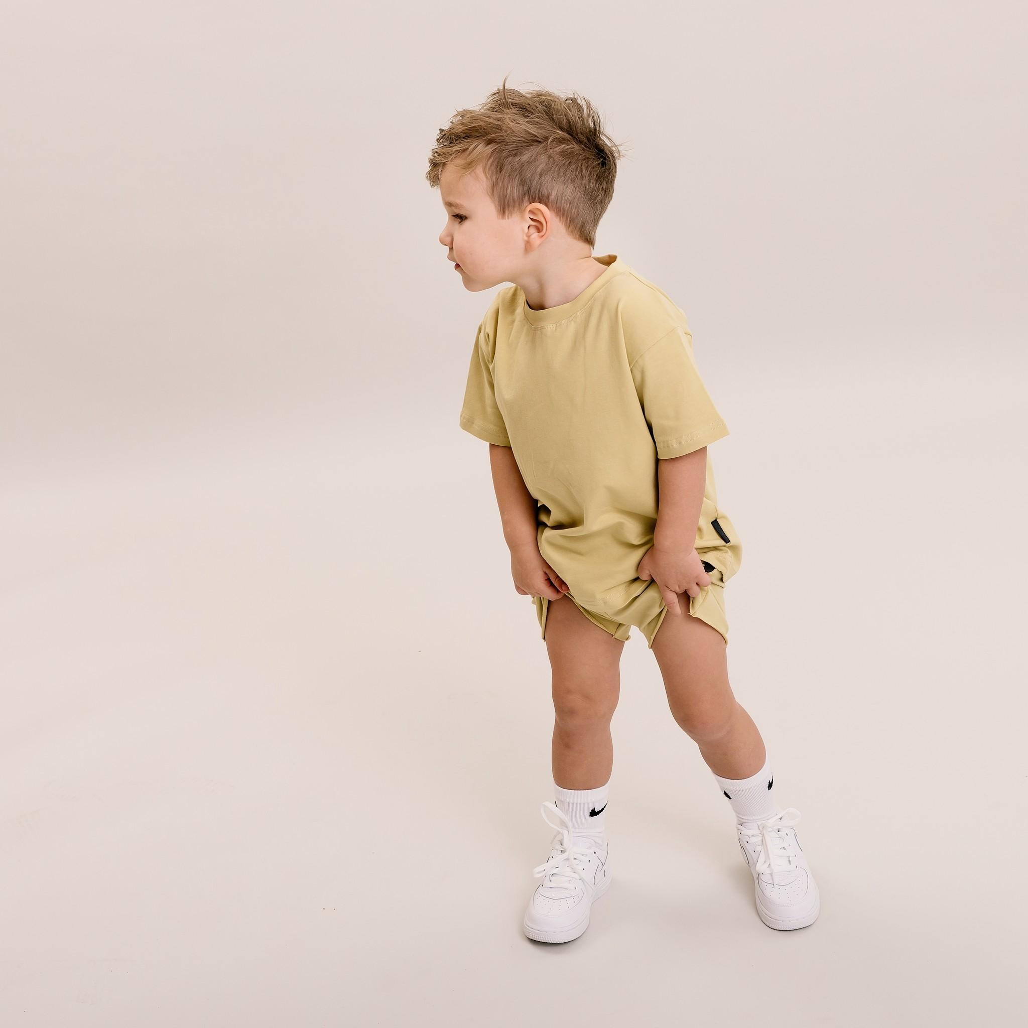 No Labels Kidswear GEEL OVERSIZED SHIRT | STREETWEAR JONGENSKLEDING | HIPPE KINDERKLEDING - Copy