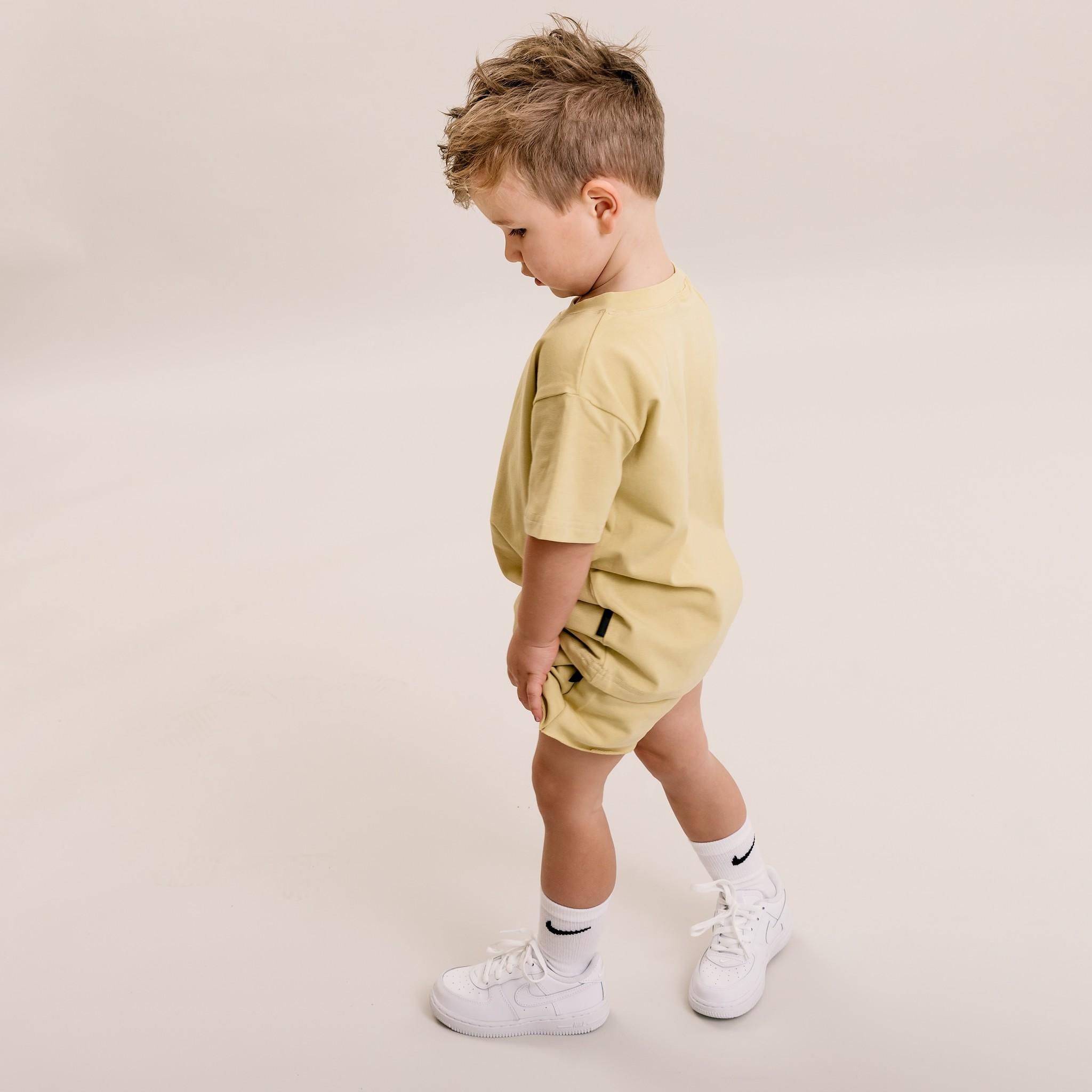 No Labels Kidswear YELLOW BERMUDE   SHORT PANTS YELLOW   CHILDREN'S CLOTHES
