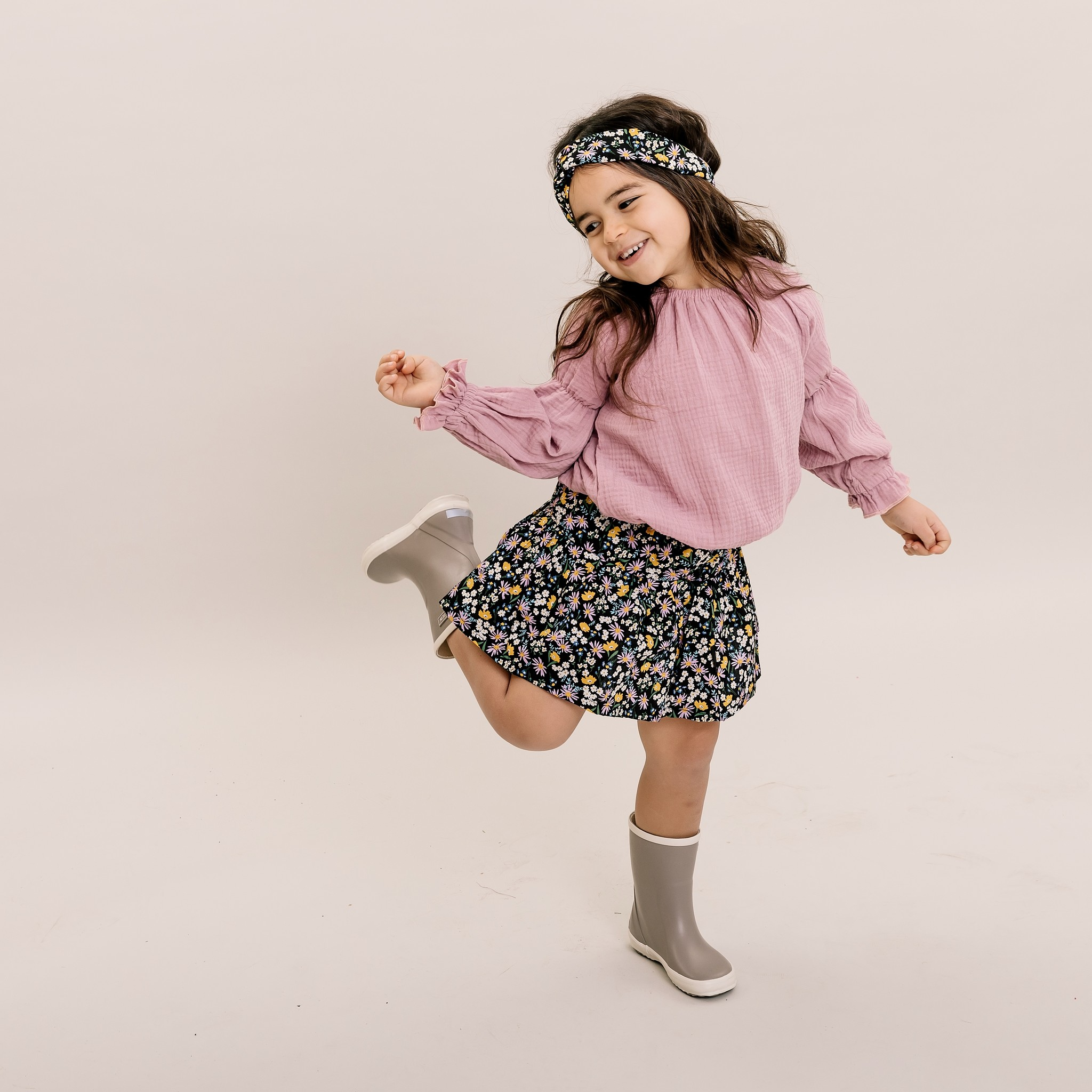 No Labels Kidswear SKIRT WITH FLORAL PRINT | PLEATED SKIRT FOR GIRLS | GIRL CLOTHES