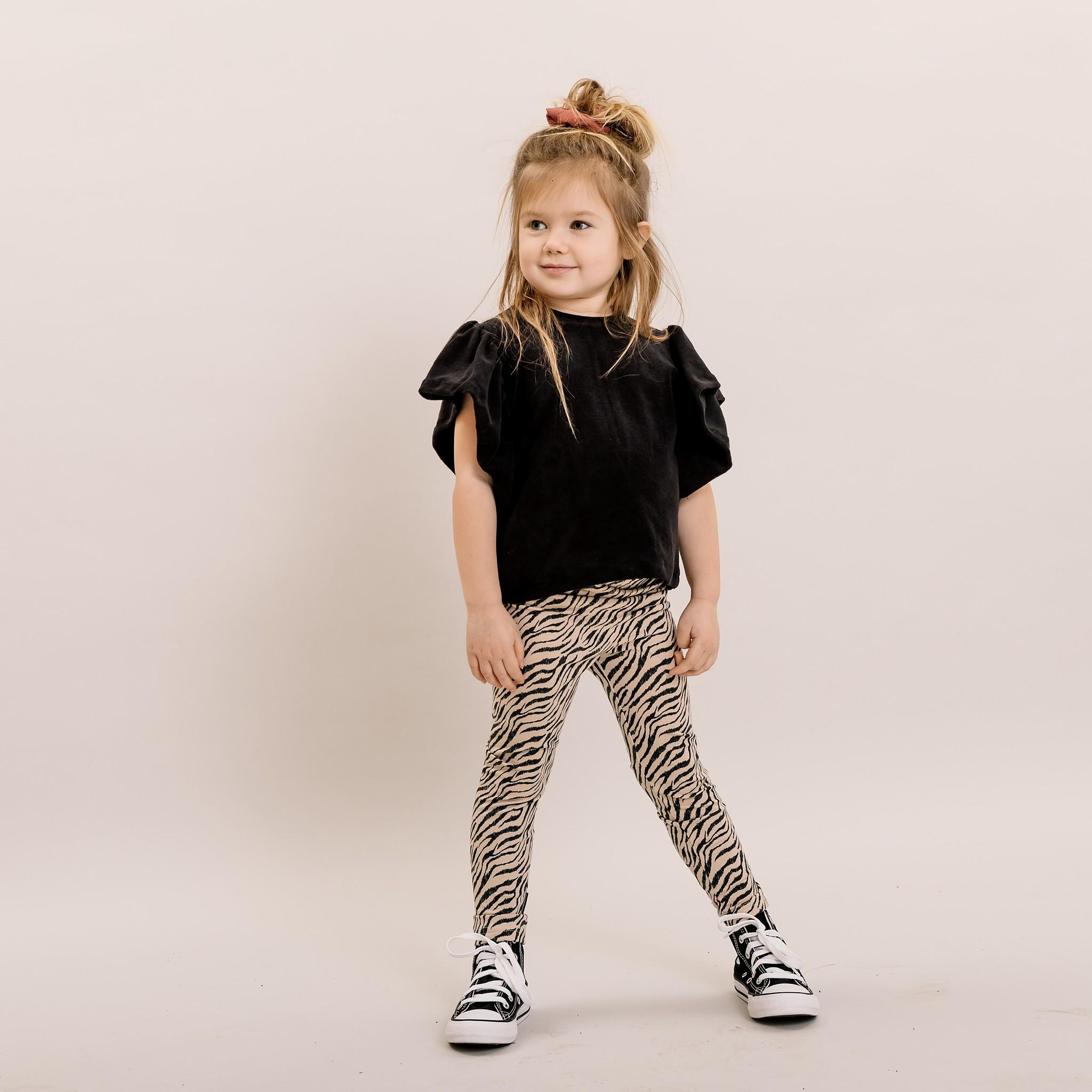 No Labels Kidswear STOERE LEGGING MET ZEBRA PRINT | LEGGING VOOR MEISJES  | NO LABELS