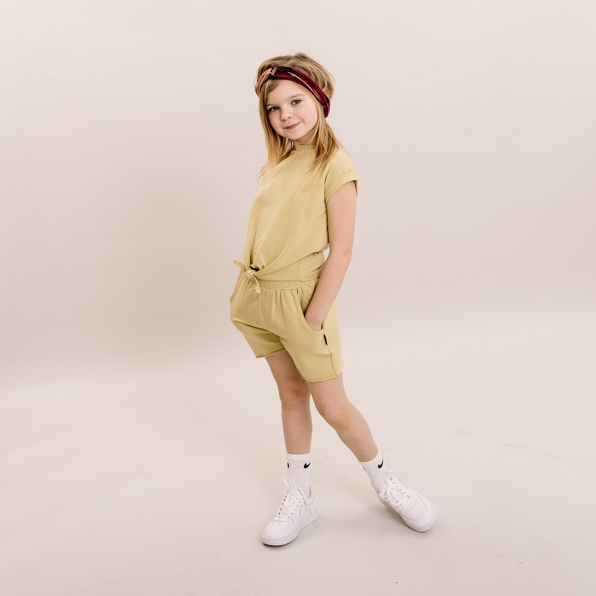 No Labels Kidswear GELE BERMUDE | KORTE BROEK GEEL| KINDERKLEDING