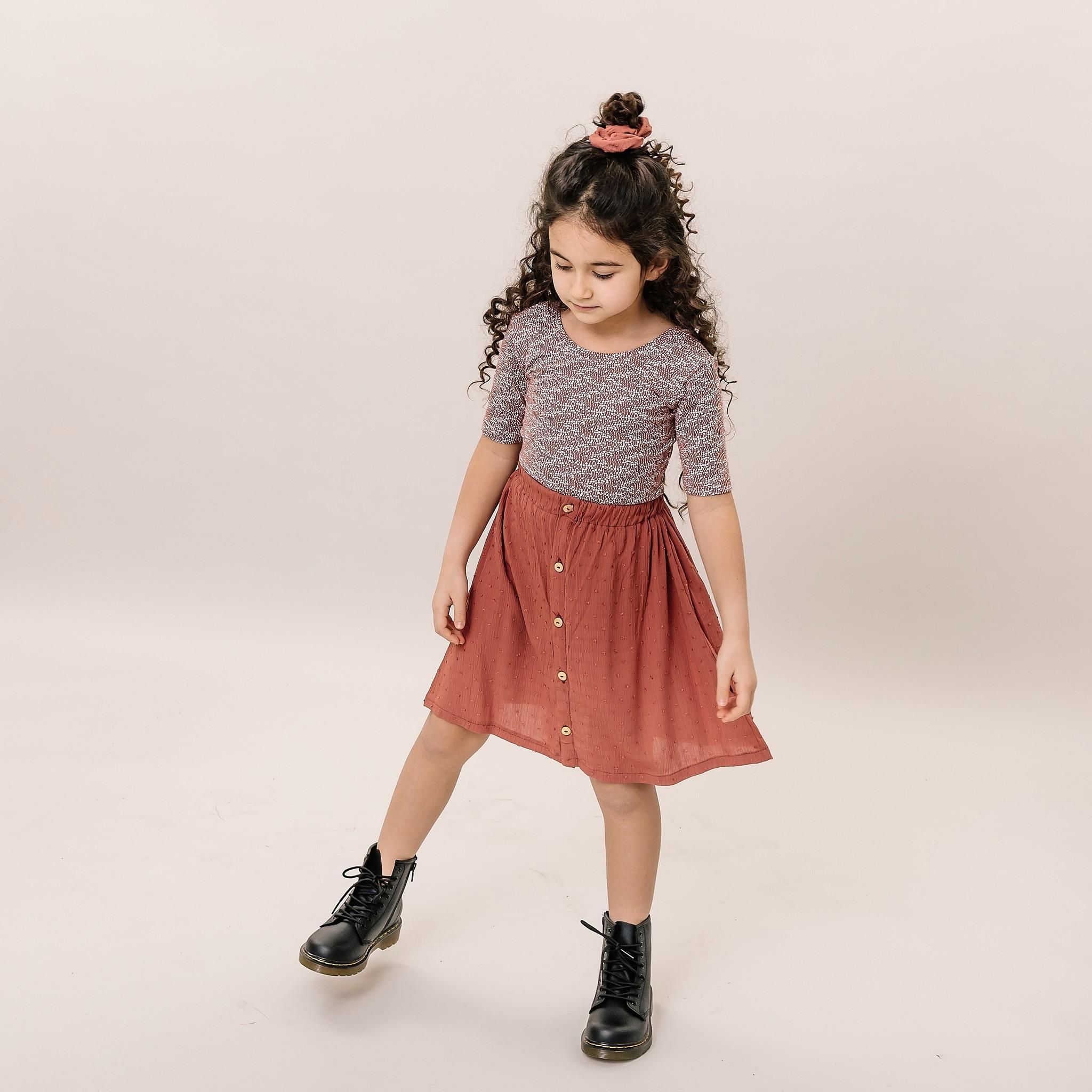 No Labels Kidswear SHIRT MET LAGE RUG   SHIRT MET BLOEMEN PRINT   MEISJESKLEDING