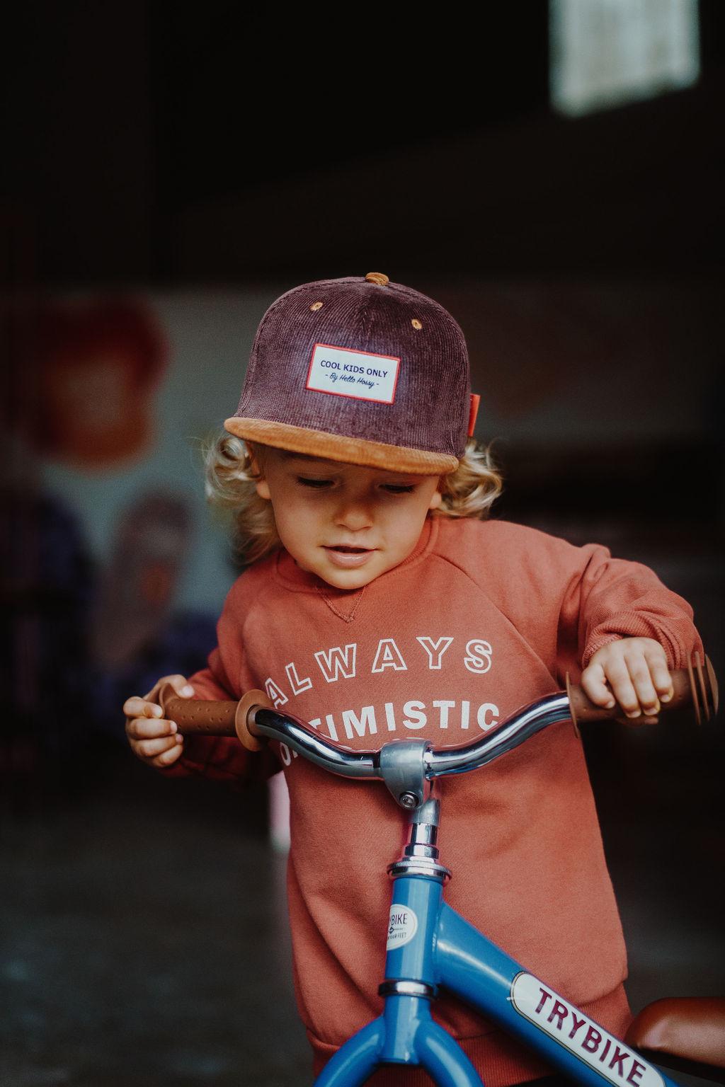 Hello Hossy  CHILDREN'S HAT   VELVET RIBBED CAP   BABY CAP