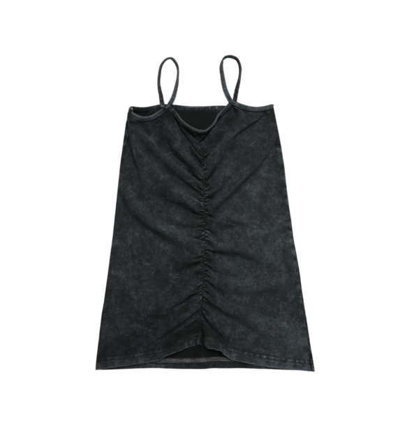 Minikid ANTHRACITE PINCHED DRESS
