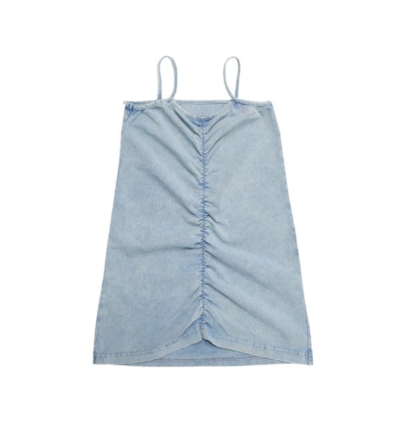Minikid BLUE PINCHED DRESS