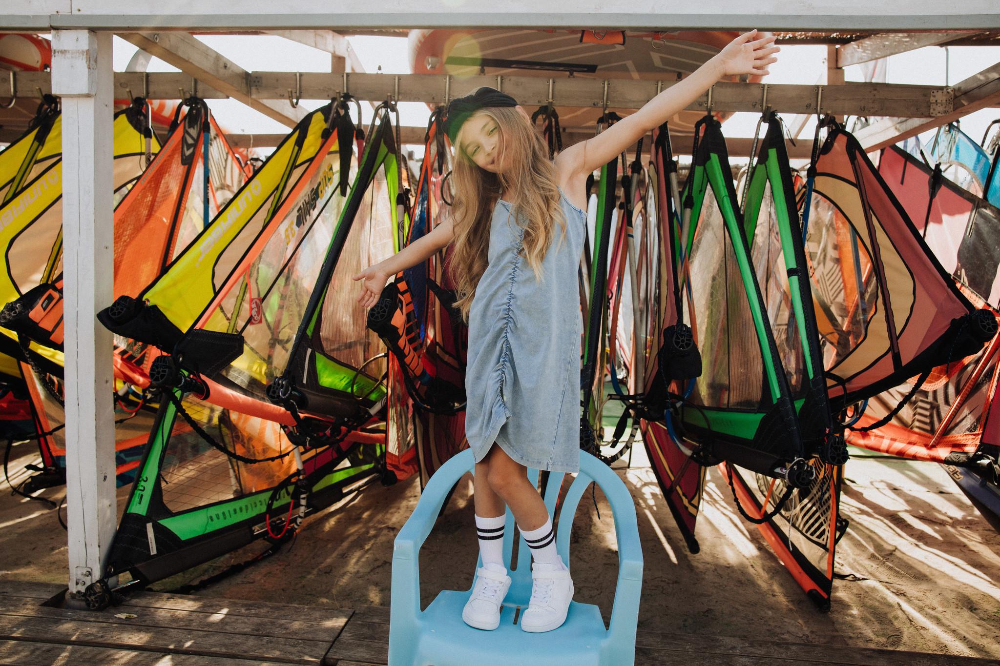 Minikid COOL DRESS | ACID BLUE DRESS FOR GIRLS | GIRLS CLOTHES