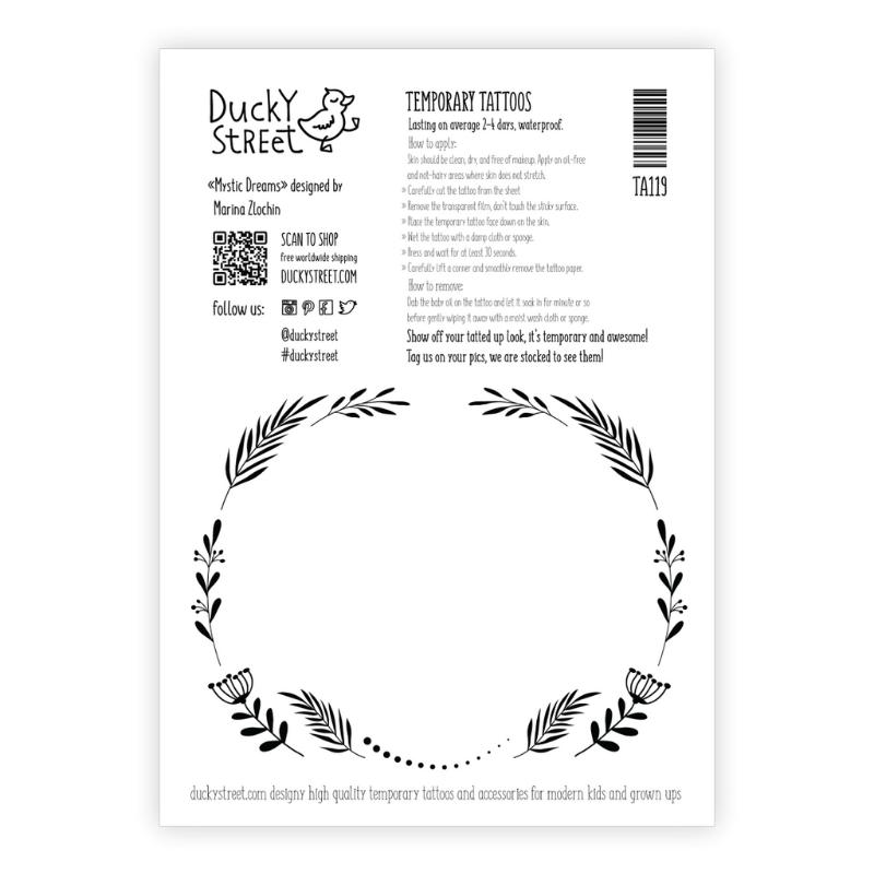 Ducky Street ZWART WIT TATTOO | KINDER TATOEAGE | TIJDELIJKE TATTOO
