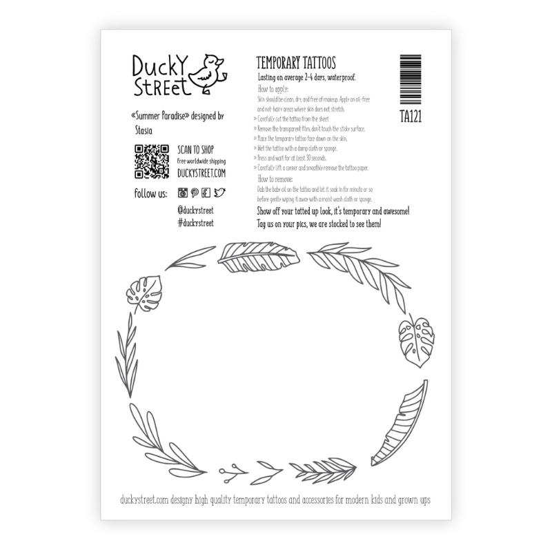 Ducky Street SURF TATTOO | KINDER TATOEAGE | TIJDELIJKE PLAK TATTOO