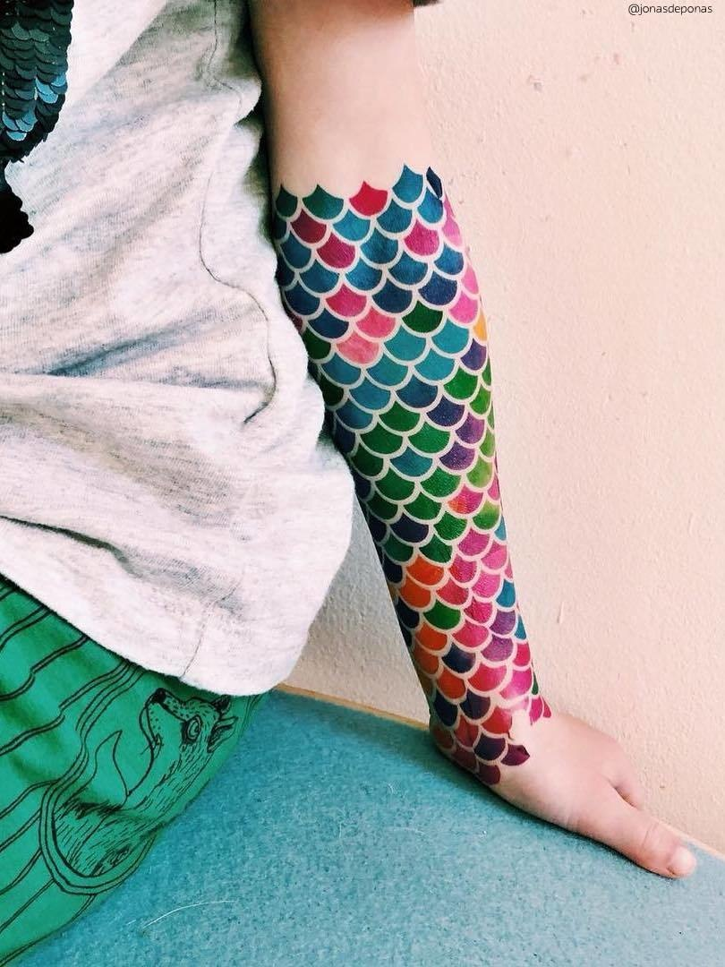 Ducky Street  MERMAID TATTOOS | Sticker Children's tattoos removable with water