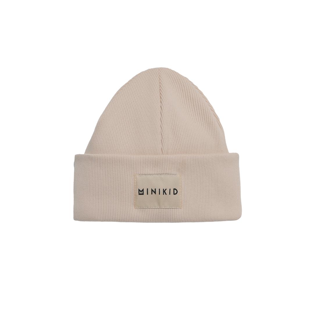 Minikid CREME WITTE MUTS   WARME KINDER MUTS   STOERE KINDERMUTS
