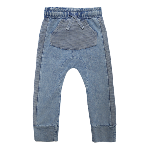 Minikid RELAXED JOGGERS MARMO BLUE