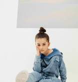 Minikid BLUE HOODIE FOR CHILDREN   COOL HOODED CARDIGAN   KIDS STREETWEAR   MINIKID