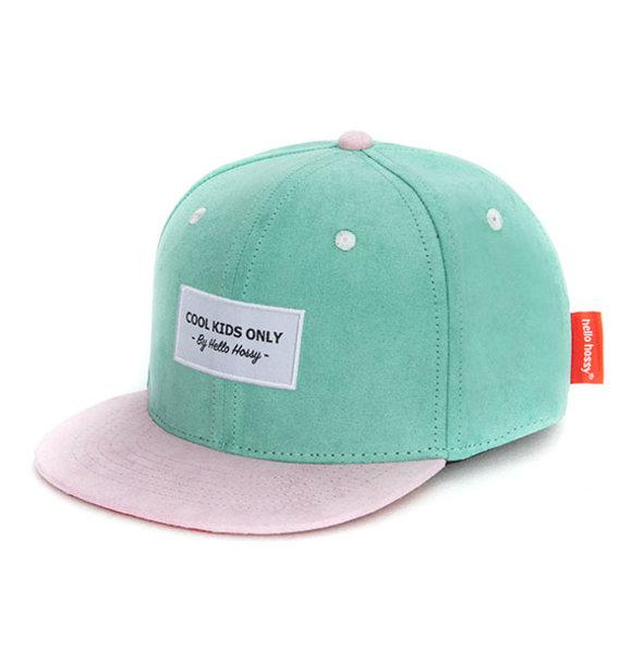 Hello Hossy CAP SUEDE GREEN BLUE
