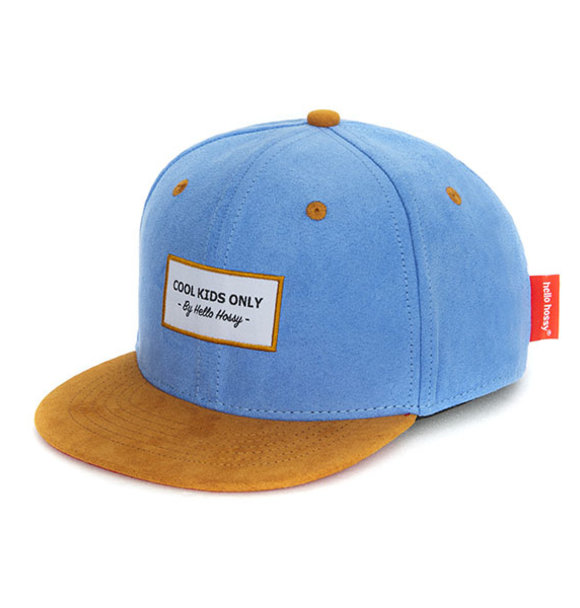 Hello Hossy CAP SUEDE COOL BLUE
